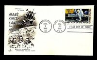 USA C76 First Man Moon Landing Space Apollo11 NASA JFK JULY 20 1969 Hand Stamp