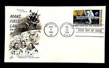 US C76 First Man Moon Landing Space Armstrong 1969 JUL 20 SEP 9 DC Handstamp
