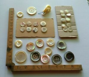 Vintage Mother of Pearl Buttons Good Selection for Crafts Jewellery or Inlay  #1