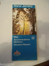 1976 NEW JERSEY AMOCO OIL GAS CO.  MAP ACCOMODATION DIRECTORY VACATION PLANNER
