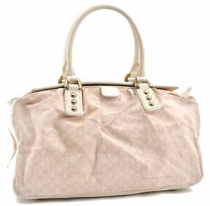 Auth Louis Vuitton Monogram Mini Lin Trapeze GM Hand Bag Pink M40064 LV D1842