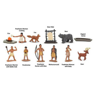 POWHATAN INDIANS TOOB #680304 ~ FREE SHIPPING in USA  w/$25+ Safari, Ltd.Product