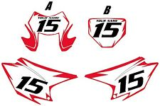 2015-2017 HONDA CRF230F Custom Pre Printed White Backgrounds Red Shock Series