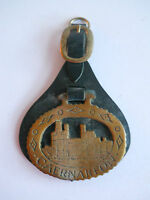 Vintage Horse Brass on Leather (CAERNARFON)
