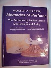 1998 Book MONSEN AND BAER MEMORIES OF PERFUME LUCIEN LELONG, CHICAGO, IL AUCTION