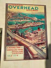 Liverpool Overhead Railway Print On Metal