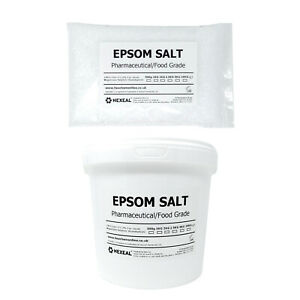 Hexeal EPSOM SALT | 1kg - 25kg Bag or Bucket | Pharmaceutical/Food Grade