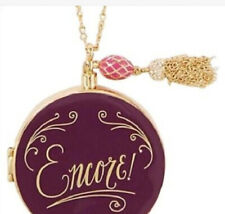 Kate Spade French Perfume Bottle Pendant Locket Necklace NWT includes studs