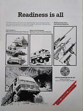 1/1982 PUB STEYR DAIMLER PUCH PINZGAUER GELANDE ARMS WEAPONS ORIGINAL AD
