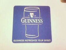 ( B ) GUINNESS REFRESHES YOUR SPIRIT   -  Beermat / Coaster  BLUE REVERSE SIDE