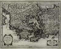 Greece Peloponnese Turkey 1661 Jansson van der Keere engraved miniature map