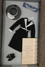 "Franklin Mint Princess Diana Vinyl Doll 16"" Navy And White Suit Inspecting Guard"