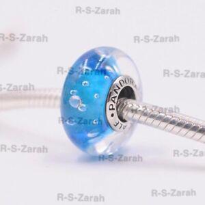 Pandora Murano Glass Charm light Blue Fizzle Effervescence S925 ALE 791618CZ Nes