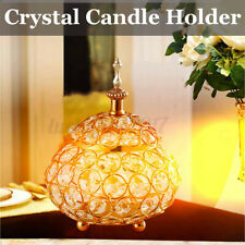 Crystal Candle Holder Votive Candelabra Wedding Dining Table Centerpiece