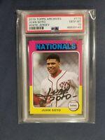 2019 Topps Archives 1975 Baseball #119 JUAN SOTO Nationals PSA 10 Gem Mint