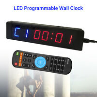 Programmable Interval Timer Stopwatch Training Clock w/ Remote Fitness Gym Yoga