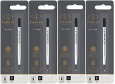 4 Parker Rollerball Pen Refills, Sealed Packs, MADE IN FRANCE, Black FINE