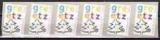 Nederland Port betaald 42c Greetz met PostNl-logo 6-strip kerstuitvoering 2014