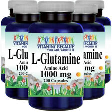 L-Glutamine Free Form Amino Acid 1000 mg 5X200 Caps by Vitamins Because