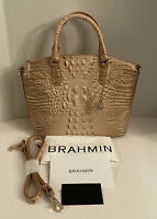 $275 New BRAHMIN Duxbury Satchel Assorted Assorted Genuine Leather HandBag