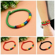 Fashion Beauty Ethnic Colorful Braid Strands Friendship Cords Cuff Bracelets