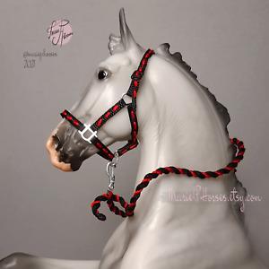 Breyer embroidered Halter & Lead Rope set custom model horse tack Peter Stone 1