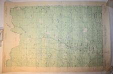 Vintage USGS Map Long Lake, WI 1939