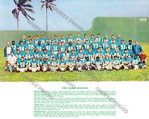1969 MIAMI DOLPHINS 8X10 TEAM PHOTO KIICK CSONKA GRIESE BUONICONTI MORRIS