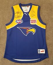 CHRIS JUDD & BEN COUSINS HAND SIGNED WEST COAST EAGLES JUMPER BROWNLOW MEDALLIST