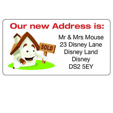 24 x Personalised New House Home We are Moving Address Labels Stickers -ref 092