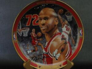 Michael Jordan Collector's Plate Record 72 Wins