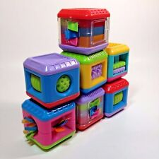 Fisher Price Peek a Boo Blocks Sensory Touch and Feel Lot of 7