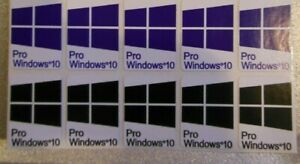10 x Windows 10 PRO Sticker Badge Logo Decal for laptop PC HD Quality blue/Black