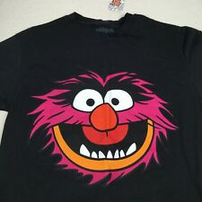 Muppets Animal Face Head T-Shirt Tee Mens Size Small Black Simple With Tag