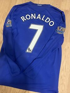 Manchester United 2008/09 Third Shirt RONALDO 7 Original Long Sleeve Large