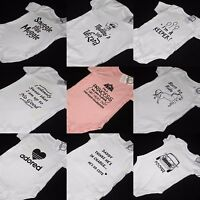 CUTE Screen Printed Babygrow Novelty Baby Vest Present Funny Gift newborn shower
