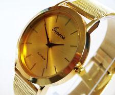 UK Seller Elegant Womens Gold PVD Quartz Dress Fashion Watch Mesh Strap
