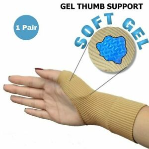 Gel Thumb Support Spica Compression Brace Arthritis Sleeve Joint Pain Gloves