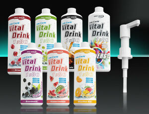 Best Body Nutrition Low Carb Vital Drink Sirup  ohne / mit Dosierpumpe o. Kappe