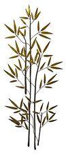 60'' Bamboo Branch Gold Metal Wall Art | Tall Asian Decor