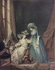 L'Aveu difficile Jean François Janinet d'après Nicolas Lafrensen II 1787