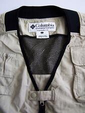 Columbia Field Sporting Waistcoat Unisex Large Beige Shooting Gilet Vtg BBt106 #