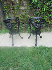 2 Beautiful Old Britannia Heavy Ornate Cast Iron Table Bases Indoor/Outdoor