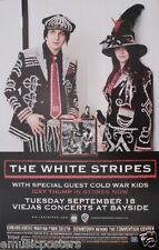 """WHITE STRIPES / COLD WAR KIDS 2007 """"ICKY THUMP TOUR"""" SAN DIEGO CONCERT POSTER"""