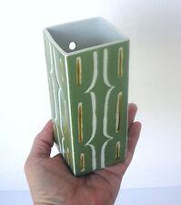 VTG Japanese Chinese Porcelain Jade Green WALL HANGING PLANTER POCKET,Caligraphy