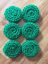 6 Kelly Green -  NYLON NET POT SCRUBBIES
