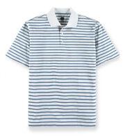 Bolle - Men's M - NWT$59 - Blue Striped Short Sleeve Performance Golf Polo Shirt
