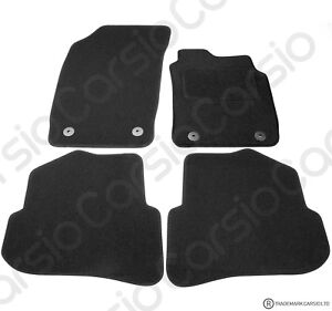 Audi A1 2010 to 2018 Fully Tailored Black Car Floor Mats Carpets 4 Clips