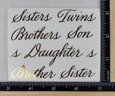 Mrs Grossman SIBLINGS REFLECTIONS Stckrs BROTHER SISTER SON TWIN 1/2 SHEET