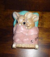 Pendelfin Stoneware Rabbit Twins Pink  Burnley England